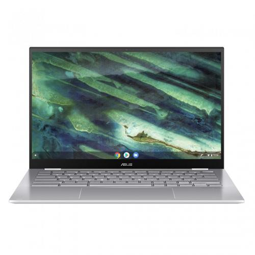 Laptop ASUS ChromeBook Flip C436FA-E10275, Intel Core i5-10210U, 14inch Touch, RAM 8GB, SSD 128GB, Intel UHD Graphics 620, Chrome OS, Aerogel White