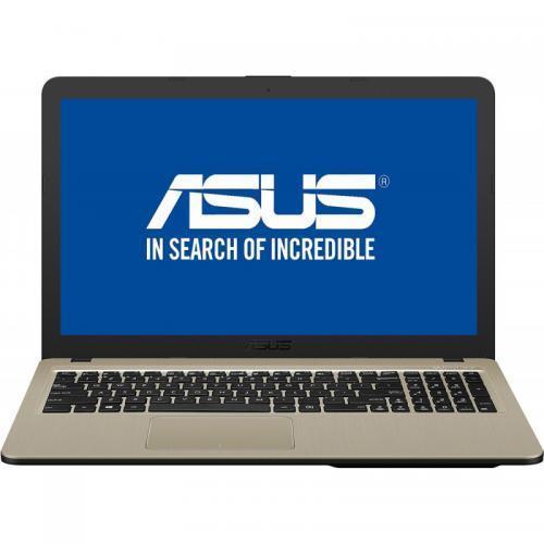 Laptop Asus X540MA-GO207, Intel Celeron Dual-Core N4000, 15.6inch, RAM 4GB, HDD 500GB, Intel UHD Graphics 600, Endless OS, Chocolate Black