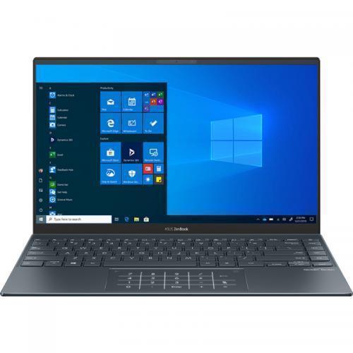 Laptop ASUS ZenBook 14 UM425IA-AM035T, AMD Ryzen 7 4700U, 14inch, RAM 8GB, SSD 512GB, AMD Radeon Graphics, Windows 10, Pine Grey
