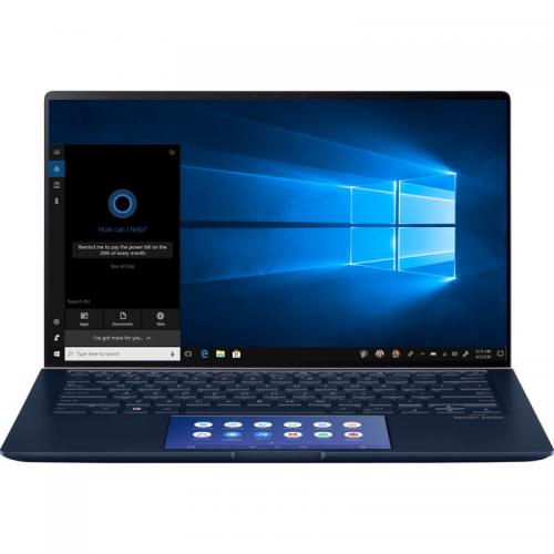 Laptop ASUS ZenBook 14 UX434FLC-AI505R, Intel Core i7-10510U, 14inch Touch, RAM 16GB, SSD 1TB, nVidia GeForce MX250 2GB, Windows 10 Pro, Royal Blue