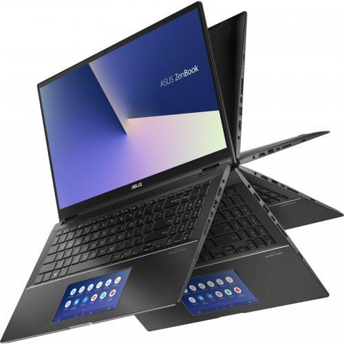 Laptop ASUS ZenBook Flip 15 UX563FD-EZ043R, Intel Core i7-10510U, 15.6inch Touch, RAM 16GB, SSD 1TB, nVidia GeForce GTX 1050 4GB, Windows 10 Pro, Gun Grey