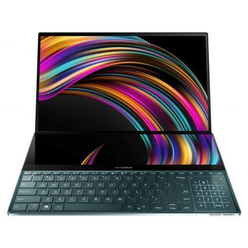 Laptop ASUS ZenBook Duo UX481FL-BM067R, Intel Core i7-10510U, 14inch, RAM 16GB, SSD 512GB, nVidia GeForce MX250 2GB, Windows 10 Pro, Celestial Blue