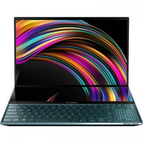 Laptop ASUS ZenBook Pro Duo UX581GV-H2001R, Intel Core i9-9980HK, 15.6inch Touch, RAM 32GB, SSD 1TB, nVidia GeForce RTX 2060 6GB, Windows 10 Pro, Celestial Blue