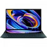 Laptop ASUS ZenBook Duo 14 UX482EA-HY026R, Intel Core i5-1135G7, 14inch Touch, RAM 8GB, SSD 1TB, Intel Iris Xe Graphics, Windows 10 Pro, Celestial Blue