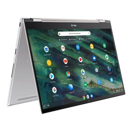 Laptop ASUS ChromeBook Flip C436FA-E10274, Intel Core i3-10110U, 14inch Touch, RAM 8GB, SSD 128GB, Intel UHD Graphics 620, Chrome OS, Aerogel White