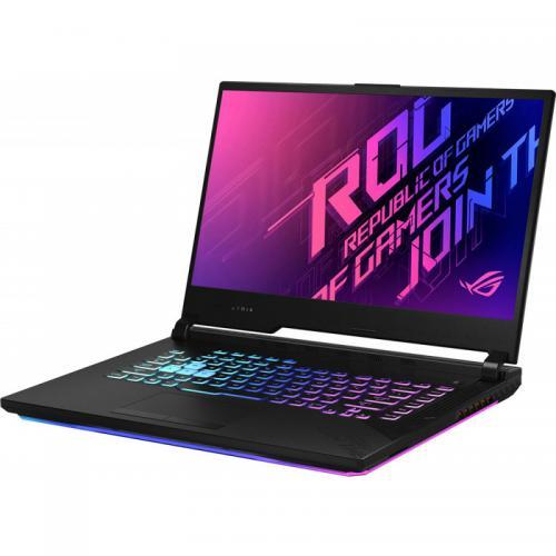 Laptop ASUS ROG Strix G15 G512LU-AL001, Intel Core i7-10750H, 15.6inch, RAM 8GB, SSD 512GB, nVidia GeForce GTX 1660Ti 6GB, No OS, Black