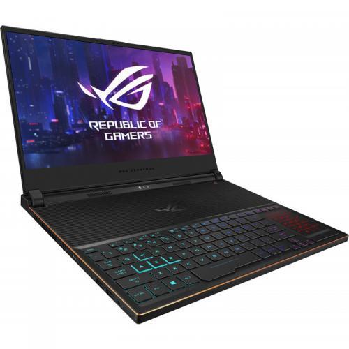 Laptop ASUS ROG Zephyrus S GX531GWR-AZ044R, Intel Core i7-9750H, 15.6inch, RAM 24GB, SSD 1TB, nVidia GeForce RTX 2070 8GB, Windows 10 Pro, Black