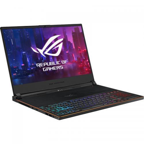 Laptop ASUS ROG Zephyrus S GX531GXR-AZ033T, Intel Core i7-9750H, 15.6inch, RAM 16GB, SSD 512GB, nVidia GeForce RTX 2080 8GB, Windows 10, Black
