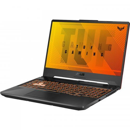 Laptop ASUS TUF Gaming A15 FA506IU-AL048, AMD Ryzen 7 4800H, 15.6inch, RAM 8GB, SSD 512GB, nVidia GeForce 1660 Ti 6GB, No OS, Bonfire Black