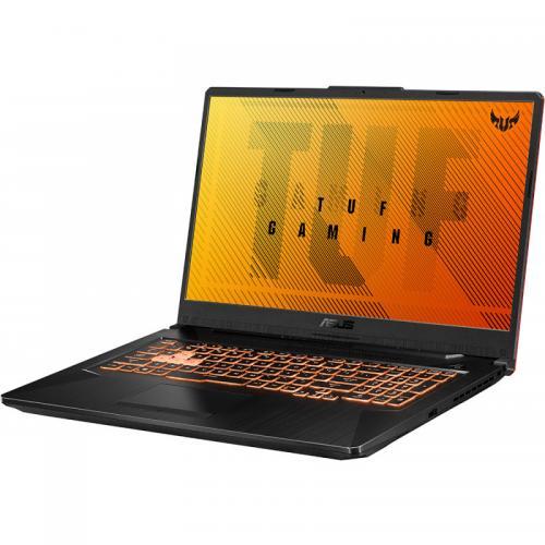 Laptop ASUS TUF Gaming A17 FA706IU-H7022, AMD Ryzen 7 4800H, 17.3inch, RAM 8GB, SSD 512GB, nVidia GeForce GTX 1660 Ti 6GB, No OS, Bonfire Black