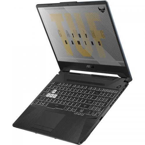 Laptop ASUS TUF Gaming F15 FX506LI-HN039, Intel Core i5-10300H, 15.6inch, RAM 8GB, SSD 512GB, nVidia GeForce GTX 1650 Ti 4GB, No OS, Fortress Gray