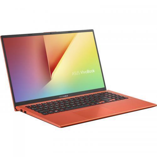 Laptop ASUS VivoBook 15 X512FA-EJ1142, Intel Core i3-8145U, 15.6inch, RAM 8GB, SSD 256GB, Intel UHD Graphics 620, No OS, Coral Crush