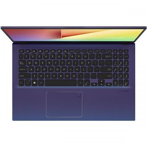 Laptop ASUS VivoBook 15 X512FA-EJ991, Intel Core i3-8145U, 15.6inch, RAM 4GB, SSD 256GB, Intel UHD Graphics 620, No OS, Peacock Blue