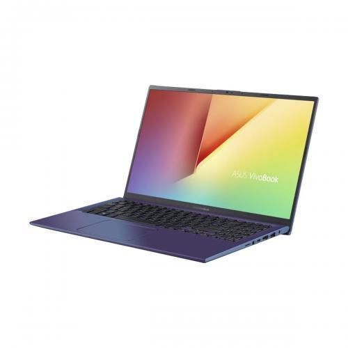 Laptop ASUS VivoBook 15 X512FA-EJ999, Intel Core i7-8565U, 15.6inch, RAM 8GB, HDD 1TB, Intel UHD Graphics 620, No OS, Peacock Blue