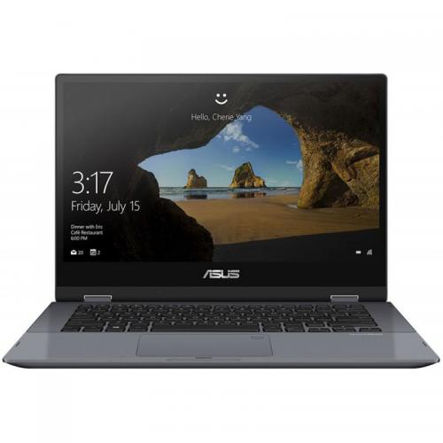 Laptop ASUS VivoBook Flip 14 TP412FA-EC375T, 14inch Touch, Intel Core i5-10210U, RAM 8GB, SSD 256GB, Intel UHD Graphics, Windows 10, Star Grey
