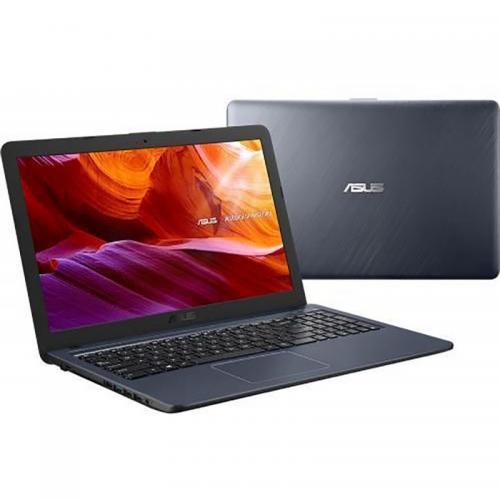 Laptop ASUS VivoBook X543MA-GQ506, Intel Celeron Dual Core N4020, 15.6inch, RAM 4GB, SSD 256GB, Intel UHD Graphics 600, Endless OS, Star Gray