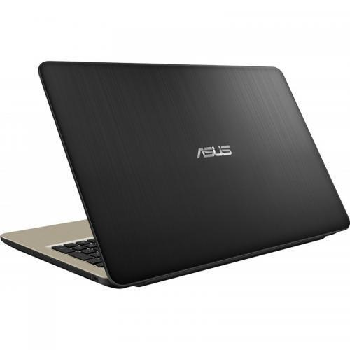 Laptop Asus X540MA-GO360, Intel Celeron N4000, 15.6inch, RAM 4GB, SSD 256GB, Intel UHD Graphics 600, Endless OS, Chocolate Black