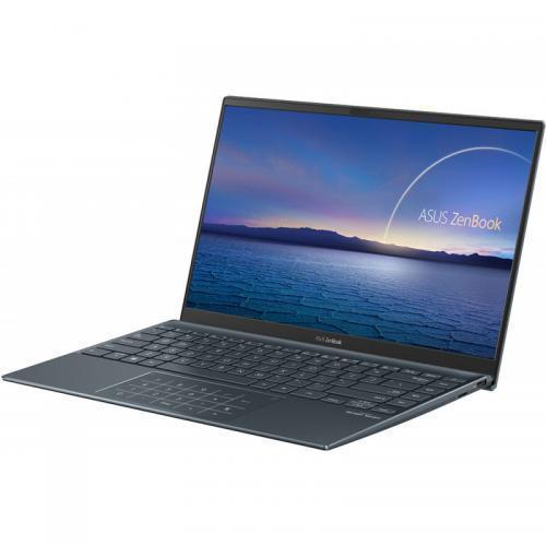 Laptop ASUS ZenBook 14 UM425IA-AM010R, AMD Ryzen 5 4500U, 14inch, RAM 8GB, SSD 512GB, AMD Radeon Graphics, Windows 10 Pro, Pine Grey