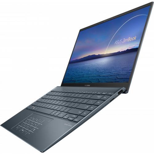 Laptop ASUS ZenBook 14 UM425IA-AM010T, AMD Ryzen 5 4500U, 14inch, RAM 8GB, SSD 512GB, AMD Radeon Graphics, Windows 10, Pine Grey