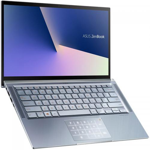 Laptop ASUS ZenBook 14 UM431DA-AM007, AMD Ryzen 5 3500U, 14inch, RAM 8GB, SSD 512GB, AMD Radeon Vega 8, Endless OS, Utopia Blue