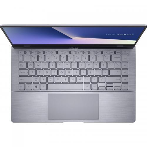 Laptop ASUS ZenBook 14 UM433IQ-A5024, AMD Ryzen 5 4500U, 14inch, RAM 8GB, SSD 512GB, nVidia GeForce MX350 2GB, No OS, Light Grey