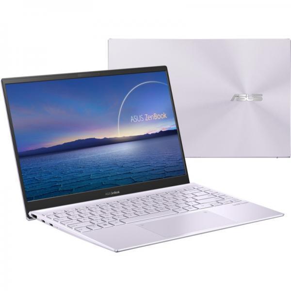 Laptop ASUS ZenBook 14 UX425EA-KI574T, Intel Core i5-1135G7, 14inch, RAM 8GB, SSD 512GB + 32GB Intel Optane, Intel Iris Xe Graphics, Windows 10, Lilac Mist