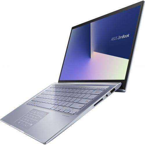 Laptop ASUS ZenBook 14 UX431FA-AM139, Intel Core i7-10510U, 14inch, RAM 8GB, SSD 512GB, Intel UHD Graphics 620, No OS, Utopia Blue