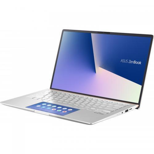 Laptop ASUS ZenBook 14 UX434FAC-A5300T, Intel Core i5-10210U, 14inch, RAM 8GB, SSD 512GB, Intel UHD Graphics, Windows 10, Icicle Silver