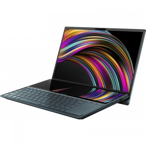 Laptop ASUS ZenBook Duo 14 UX481FL-HJ099R, Intel Core i7-10510U, 14inch Touch, RAM 16GB, SSD 512GB, nVidia GeForce MX250 2GB, Windows 10 Pro, Celestial Blue