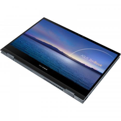 Laptop ASUS ZenBook Flip 13 OLED UX363EA-HP044R, Intel Core i7-1165G7, 13.3inch FHD OLED Touch, RAM 16GB, SSD 1TB, Intel Iris Xe Graphics, Windows 10 Pro, Pine Grey