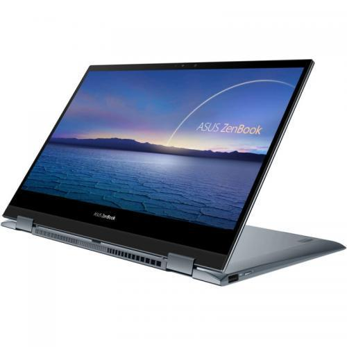 Laptop ASUS ZenBook Flip 13 UX363EA-EM073T, Intel Core i5-1135G7, 13.3inch Touch, RAM 8GB, SSD 512GB, Intel Iris Xe Graphics, Windows 10, Pine Grey
