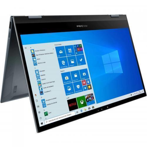 Laptop ASUS ZenBook Flip 13 UX363EA-EM082R, Intel Core i5-1135G7, 13.3inch Touch, RAM 8GB, SSD 1TB, Intel Iris Xe Graphics, Windows 10 Pro, Pine Grey