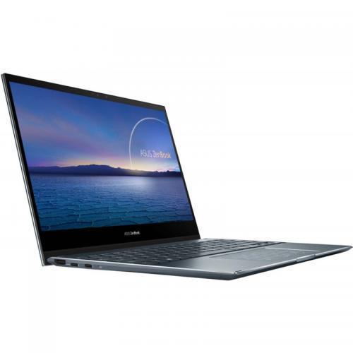 Laptop ASUS ZenBook Flip 13 UX363EA-EM084T, Intel Core i7-1165G7, 13.3inch Touch, RAM 8GB, SSD 512GB, Intel Iris Xe Graphics, Windows 10, Pine Grey