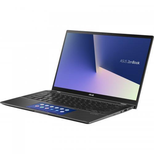 Laptop ASUS ZenBook Flip 14 UX463FA-AI067R, Intel Core i7-10510U, 14inch Touch, RAM 16GB, SSD 1TB, Intel UHD Graphics 620, Windows 10 Pro, Gun Grey