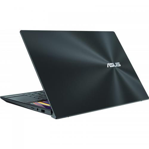 Laptop ASUS ZenBook Duo UX481FL-BM067T, Intel Core i7-10510U, 14inch, RAM 16GB, SSD 512GB, nVidia GeForce MX250 2GB, Windows 10, Celestial Blue