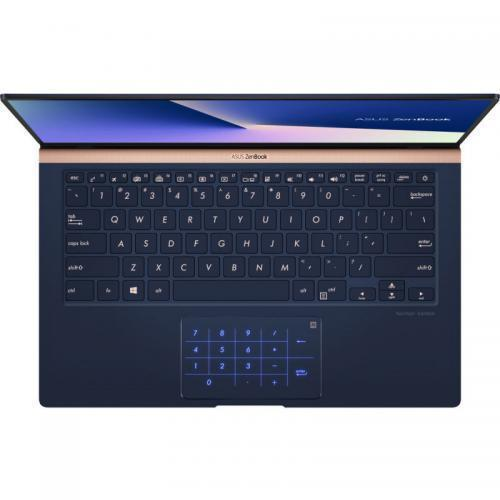 Laptop ASUS ZenBook 14 UX433FAC-AI390T, Intel Core i7-10510U, 14inch Touch, RAM 16GB, SSD 1TB, Intel UHD Graphics 620, Windows 10, Royal Blue