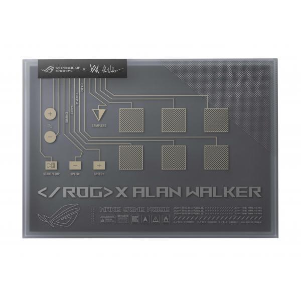 Laptop ROG Zephyrus G14 Alan Walker Edition GA401QEC-K2064T, AMD Ryzen 9 5900HS, 14inch, RAM 16GB, SSD 1TB, Nvidia GeForce RTX 3050 Ti 4GB, Windows 10, Gray