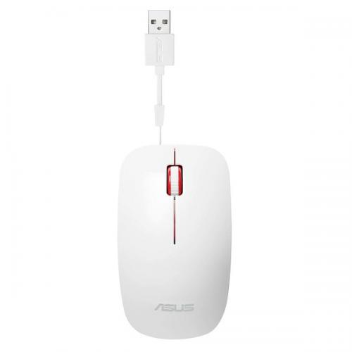 Mouse Optic ASUS UT300, USB, Glossy White-Red