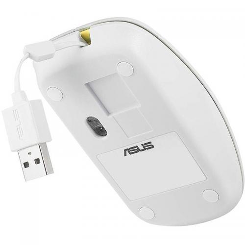 Mouse Optic ASUS UT300, USB, Glossy White-Yellow