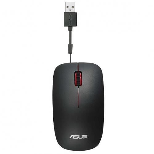 Mouse Optic ASUS UT300, USB, Matte Black-Red