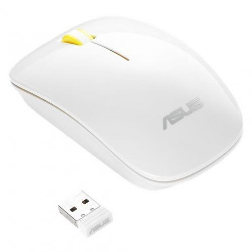 Mouse Optic ASUS WT300, USB Wireless, Glossy White-Yellow