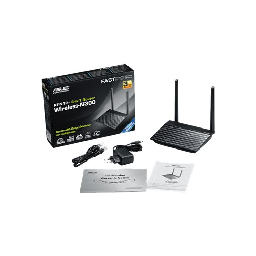 Router Wireless ASUS RT-N12+, 4x LAN