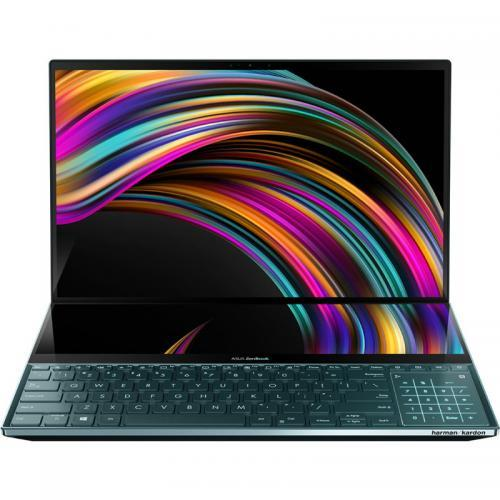 Laptop ASUS ZenBook Pro Duo UX581GV-H2004R, Intel Core i7-9750H, 15.6inch Touch, RAM 16GB, SSD 512GB, nVidia GeForce RTX 2060 6GB, Windows 10 Pro, Celestial Blue